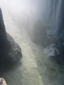Deep gorges below the Falls