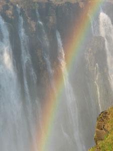 Brilliant rainbows on the Falls