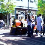 Kiddie train ride on Church Street, Burlington, VT
