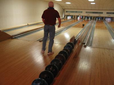 Ninepin bowling lane in Blanco, TX