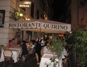 Ristorante Quirino, near the Trevi Fountain (Photo: Steve Mullen)