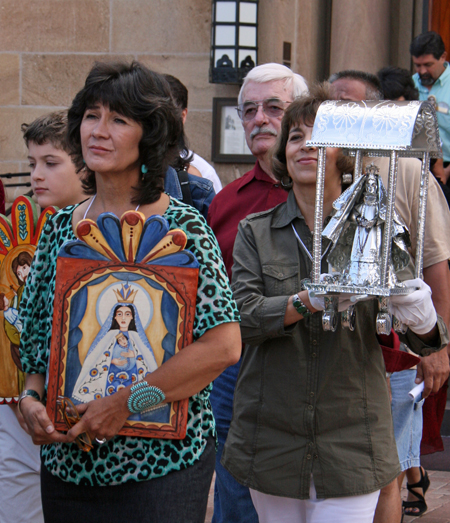 Procession of the Spanish Market Artists from the Cathedral/Basilica St. Francis in Santa Fe