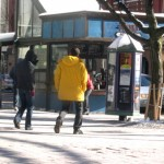 Kiosk and newsstand in Burlington VT