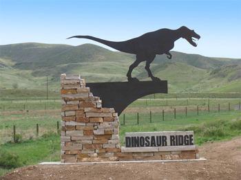 Allosaurus Sign Visitor Cente