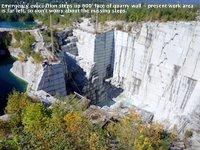 600' quarry wall