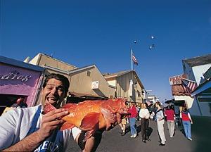 The Fish Guy at Fisherman's Wharf, Monterey
