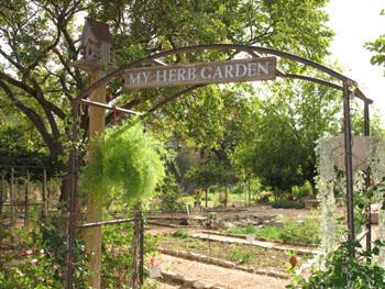 Herb Farm in Fredericksburg, Texas
