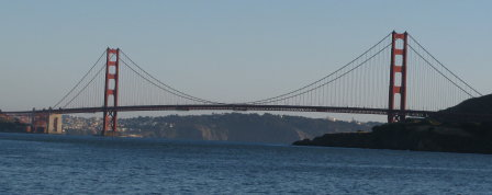 Golden Gate Bridge from the north (photo: Steve Mullen).
