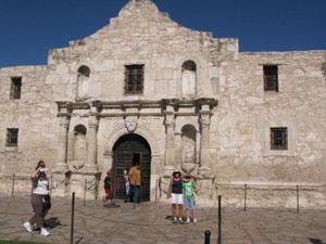 entrance to Alamo in San Antonio