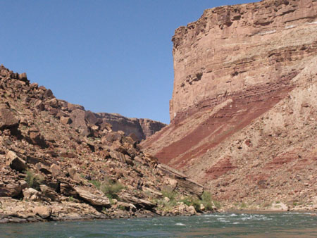 Entering the Grand Canyon by raft on the Colorado River