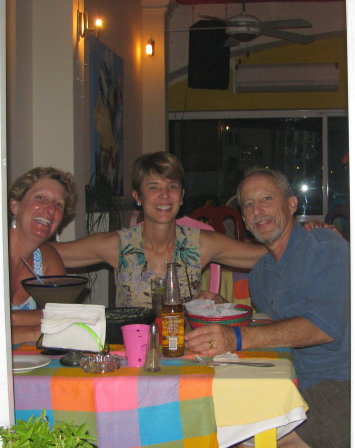 Friends enjoying Tequila y Guacamole
