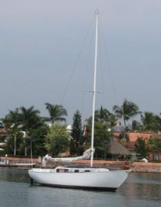 We sailed along the waterfront on the Simpatico, a Rawson 30' sailboat