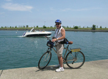 Bike ride along Lake Michigan, Chicago