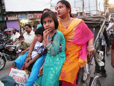 Rickshaw riders in India