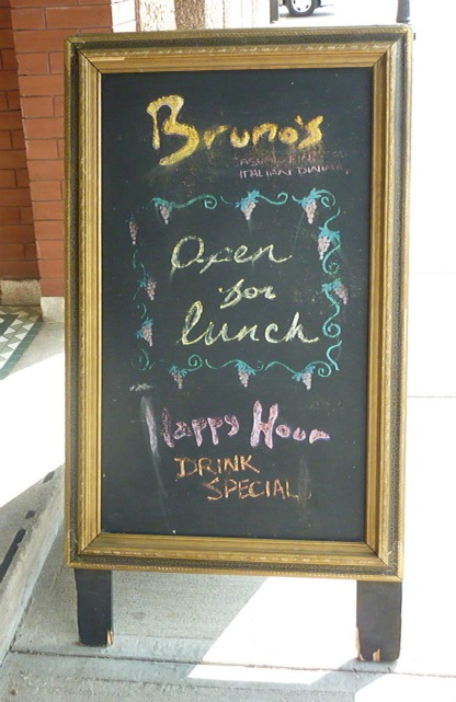 Brunos Chalk board