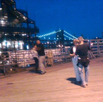 Dancing at the Seaport