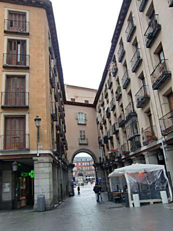 Scenic gateways lead into Plaza Mayor in Madrid's Hapsburg section