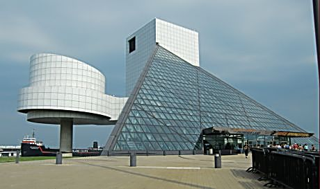 Outside the Rock 'n' Roll Hall of Fame is awesome architecture. Inside, there is so much to see it is hard to know where to look first.