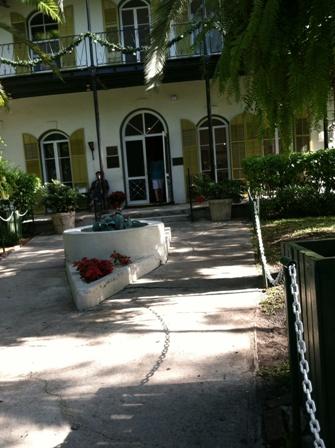 courtyard at Hemingway House