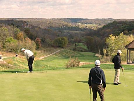 Hills challenge Eagle Ridge Resort golf shots and offer great album shots