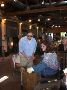 Glassblowing at Greenfield Village