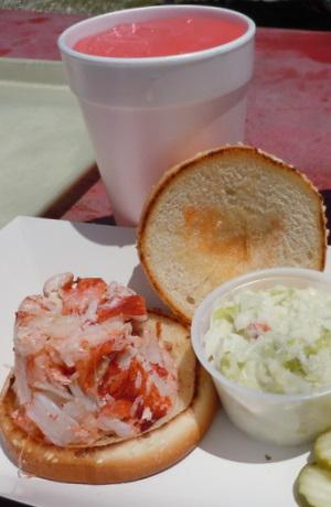 Abbott's hot lobster roll