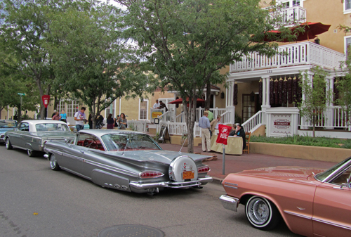 Lowriders in Town to Enjoy the Hotel Chimayo Lowrider Bar