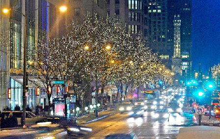 Chicago's North Michigan Avenue lights up for the holidays