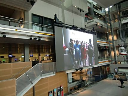 Watch the news coverage as it happens in the Newseum atrium