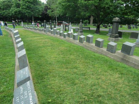 Thousands of visitors visit grave stones for Titanic victims in Halifax, Nova Scotia