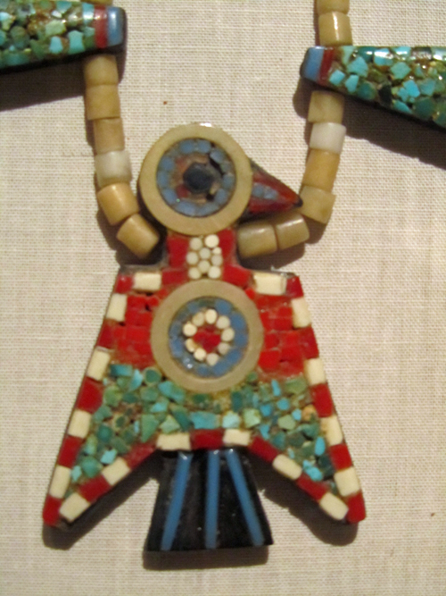 Thunderbird Necklace Made of Found Materials