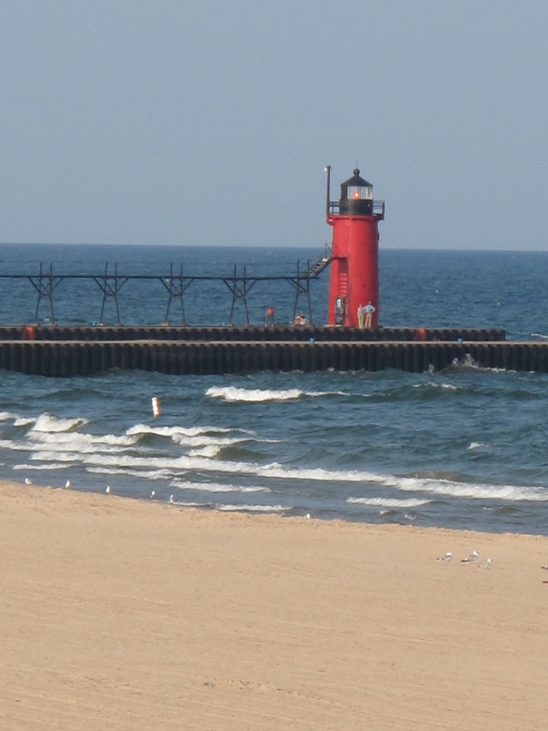 lighthouse in South Haven, Mich.