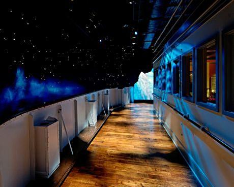 Iceberg ahead. Walk a Titanic deck at a museum in Pigeon Forge, Tenn. or Branson, Mo.