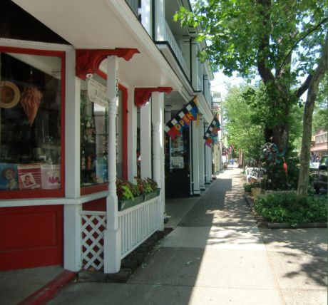 Fun stops from an olive tasting shop and espresso cafe to an artist's own gallery and an yummy ice cream place make browsing downtown saugatuck a vacation destination.