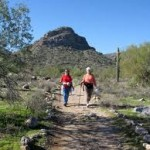 Hiking at the White Tank Mountain Regional Park