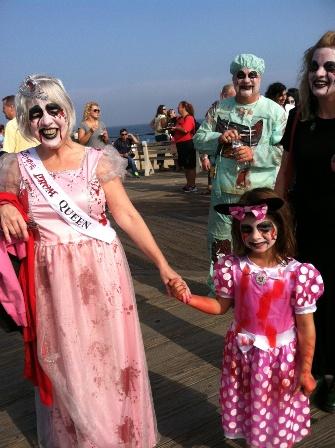 Zombie Grandma and Granddaughter